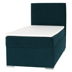 Boxspringová posteľ, jednolôžko, zelená, 90x200, pravá, SAFRA, rozbalený tovar