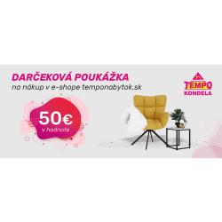 Darčeková poukážka v hodnote 50 EUR