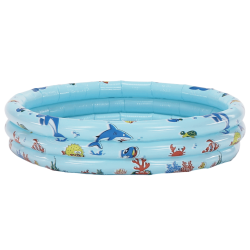 Detský nafukovací bazén, modrá/vzor, LOME