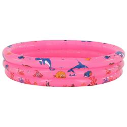 Detský nafukovací bazén, ružová/vzor, LOME