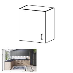 Horná skrinka, dub artisan/sivý mat, ľavá, LANGEN G60G