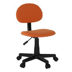 Kancelárska stolička, čierna/oranžová, SALIM