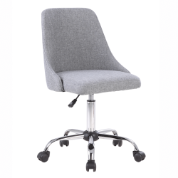 Kancelárska stolička, sivá/chróm, EDIZ