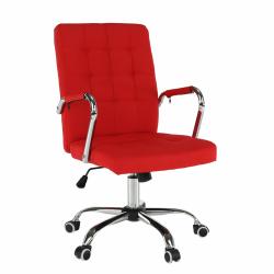 Kancelárske kreslo, červená, MORGEN