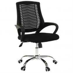 Kancelárske kreslo, čierna/chróm, IMELA TYP 2