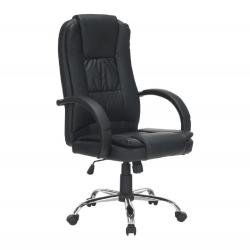Kancelárske kreslo, čierna/chróm, MADOX