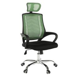 Kancelárske kreslo, zelená/čierna/chróm, IMELA TYP 1