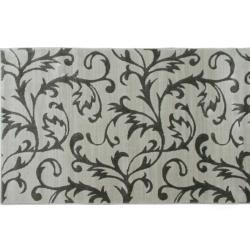 Koberec, krémová/sivý vzor, 160x235, GABBY