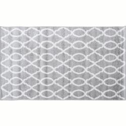 Koberec, svetlosivá/vzor v slonovinovej, 160x235, DESTA