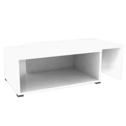 Konferenčný rozkladací stolík, biela, DRON