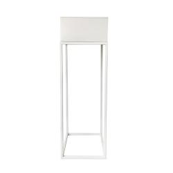 Multifunkčný kovový kvetináč, biela, INDIZE TYP 1 WL4211