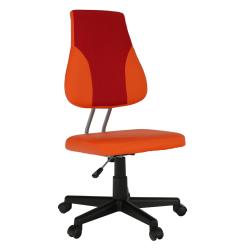 Otočná rastúca stolička, oranžová/červená, RANDAL