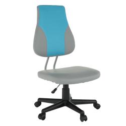 Otočná rastúca stolička, sivá/modrá, RANDAL