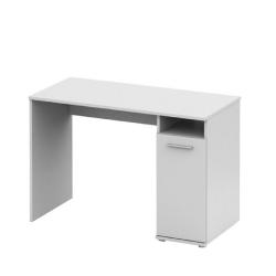 PC stôl, biela,  NOKO-SINGA 21