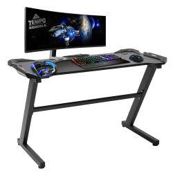 PC stôl/herný stôl, čierna, JADIS