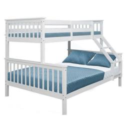 Poschodová posteľ, rozložiteľná, biela, BAGIRA, rozbalený tovar