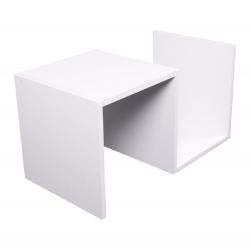 Príručný stolík/polica, biela, VALMAR