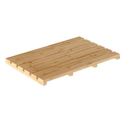 Protišmyková predložka do kúpeľne, prírodný lakovaný bambus, KLERA
