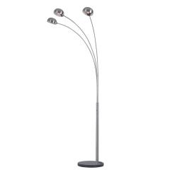 Stojacia lampa, sivý kov/mramor, CINDA TYP 1 YF04-3