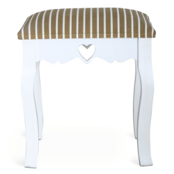 Taburet, biela/pásikavý vzor, WAGNER 1