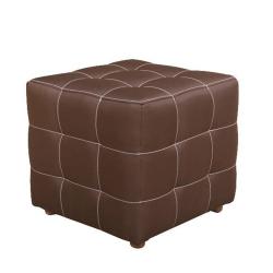 Taburet malý, čokoládová, KAZARA