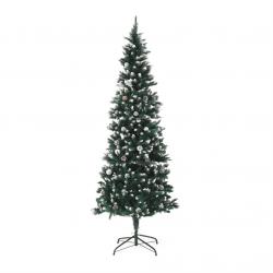 Vianočný stromček so šiškami, posnežený, 210cm, CHRISTMAS TYP 2