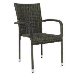 Záhradná stohovateľná stolička, sivá, VIPANA