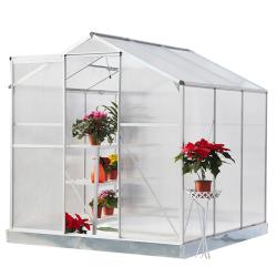 Záhradný skleník, polykarbonát, 190x191x219cm, KACEN TYP 2