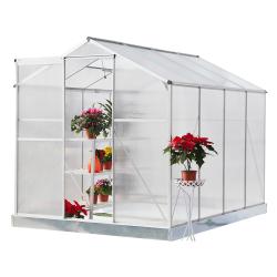 Záhradný skleník, polykarbonát, 190x253x219cm, KACEN TYP 3