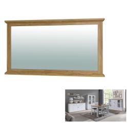 Zrkadlo MZ16, biela/dub grand, LEON